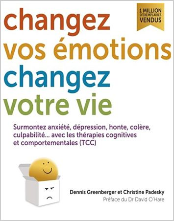 photo of cover of french translation of mind over mood