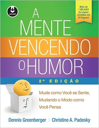 photo of cover of portuguese translation of mind over mood